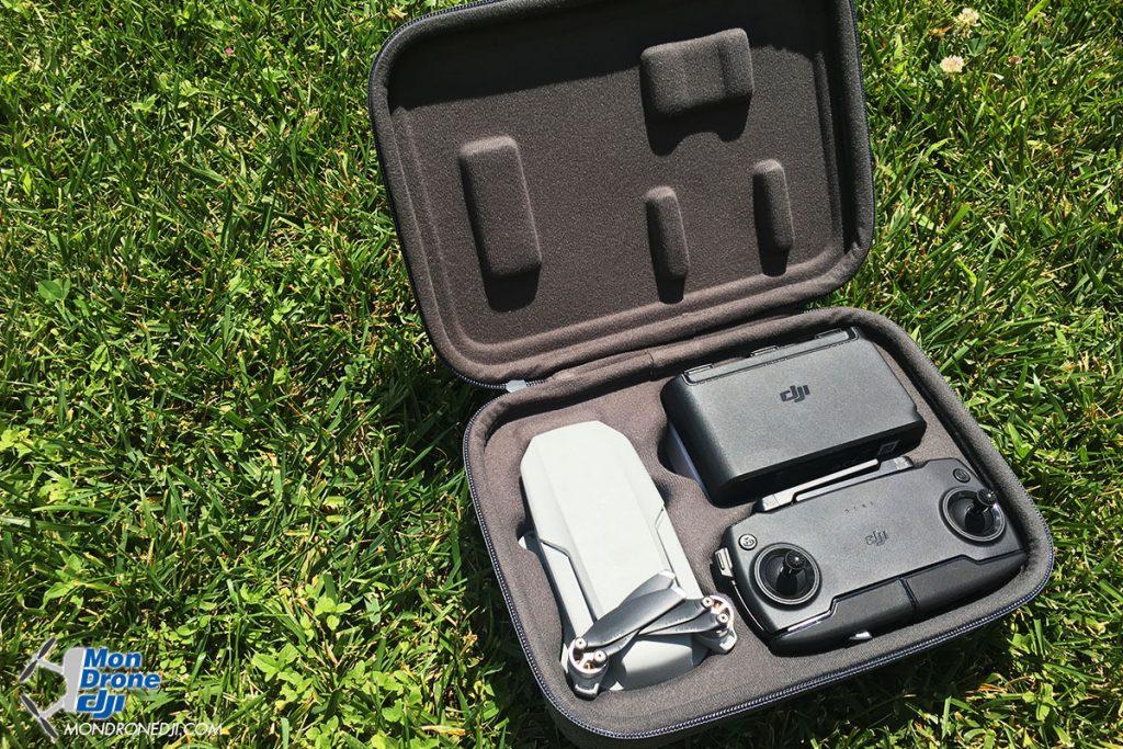 Drone DJi Mavic Mini dans sa boite de transport